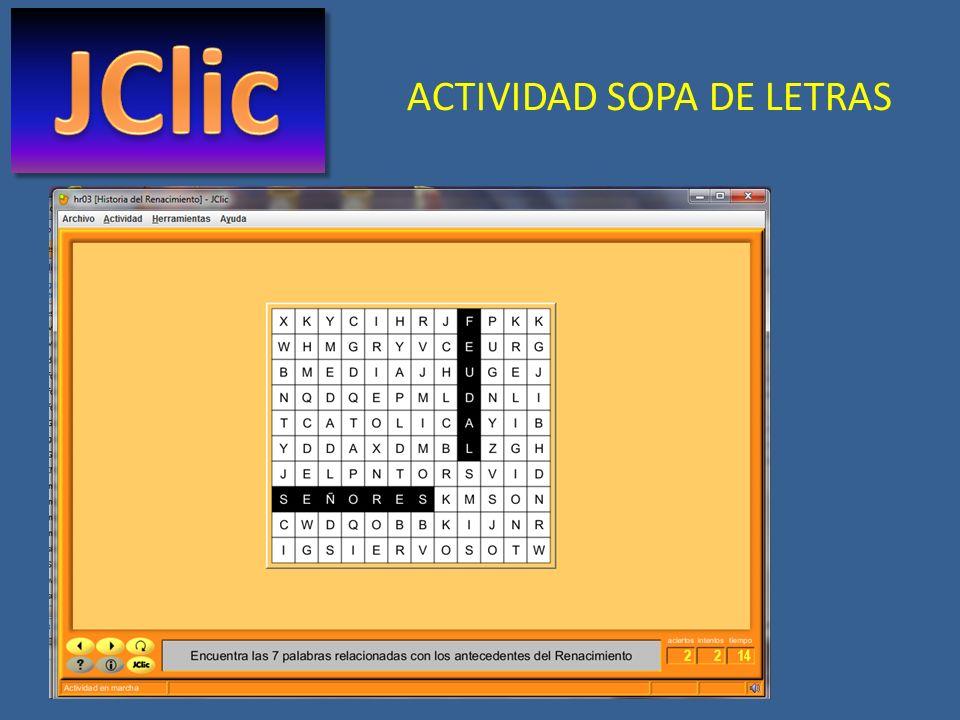 ACTIVIDAD SOPA DE LETRAS
