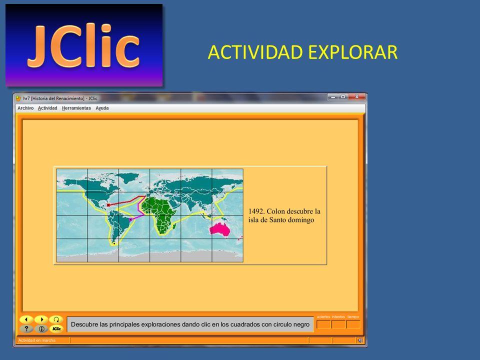 JClic ACTIVIDAD EXPLORAR