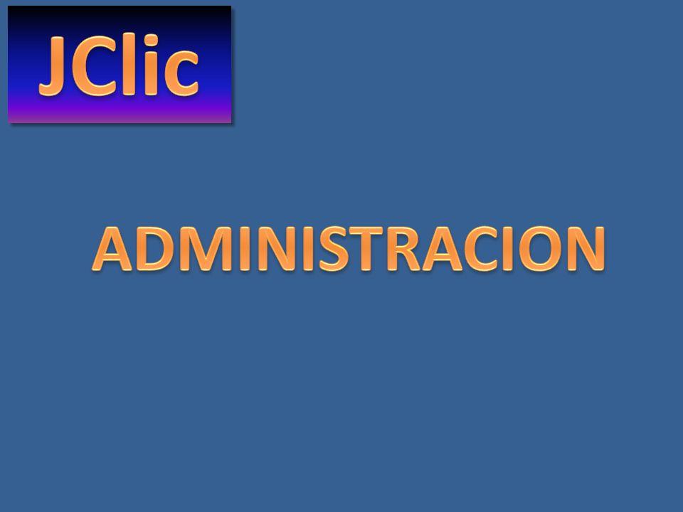 JClic ADMINISTRACION