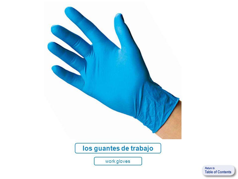 los guantes de trabajo work gloves