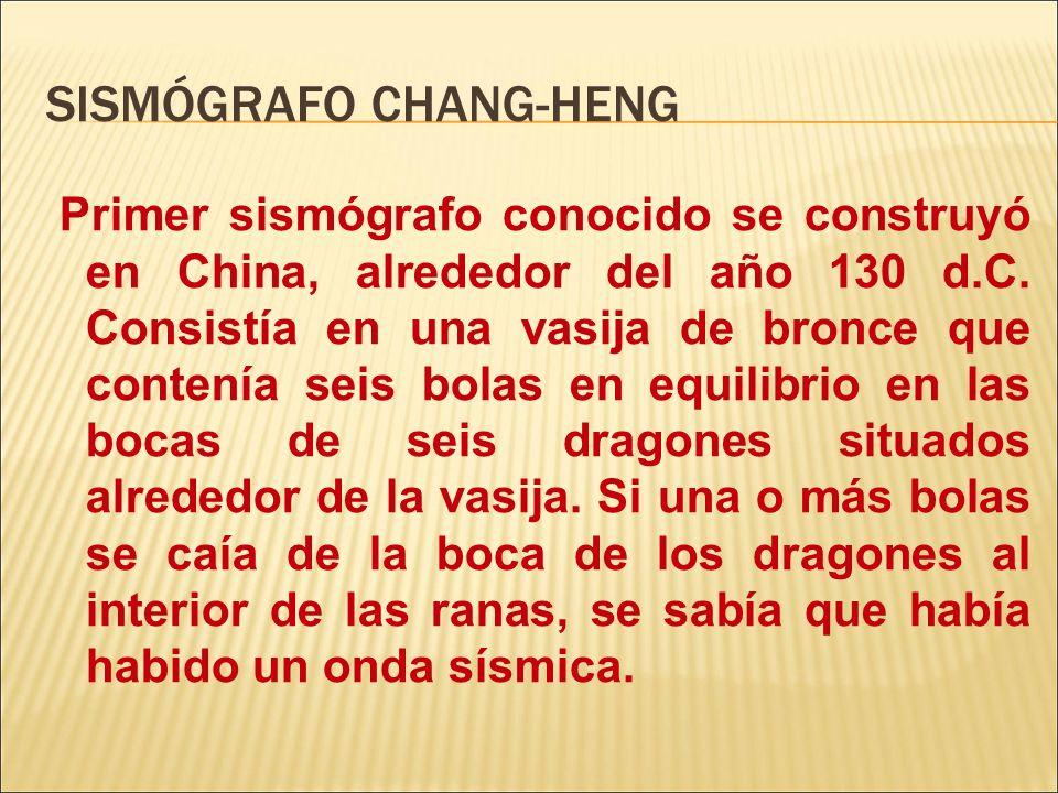 SISMÓGRAFO CHANG-HENG