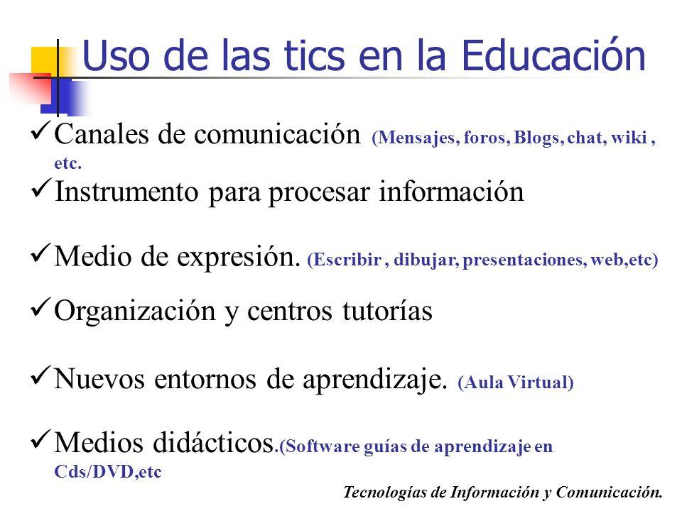 Uso de las tics en la Educación
