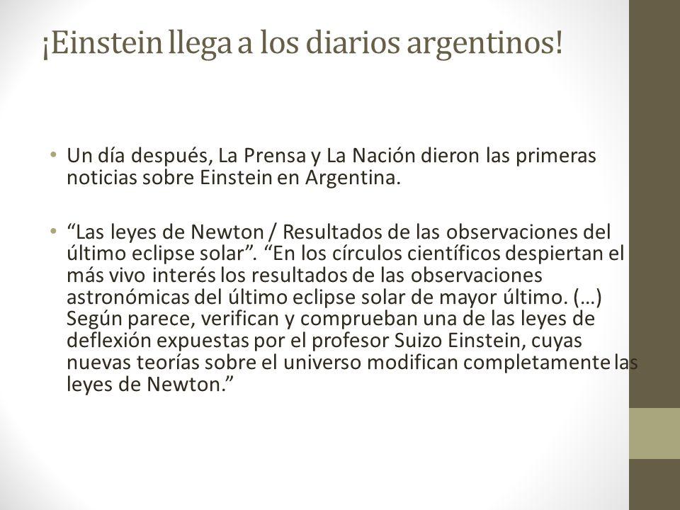 ¡Einstein llega a los diarios argentinos!