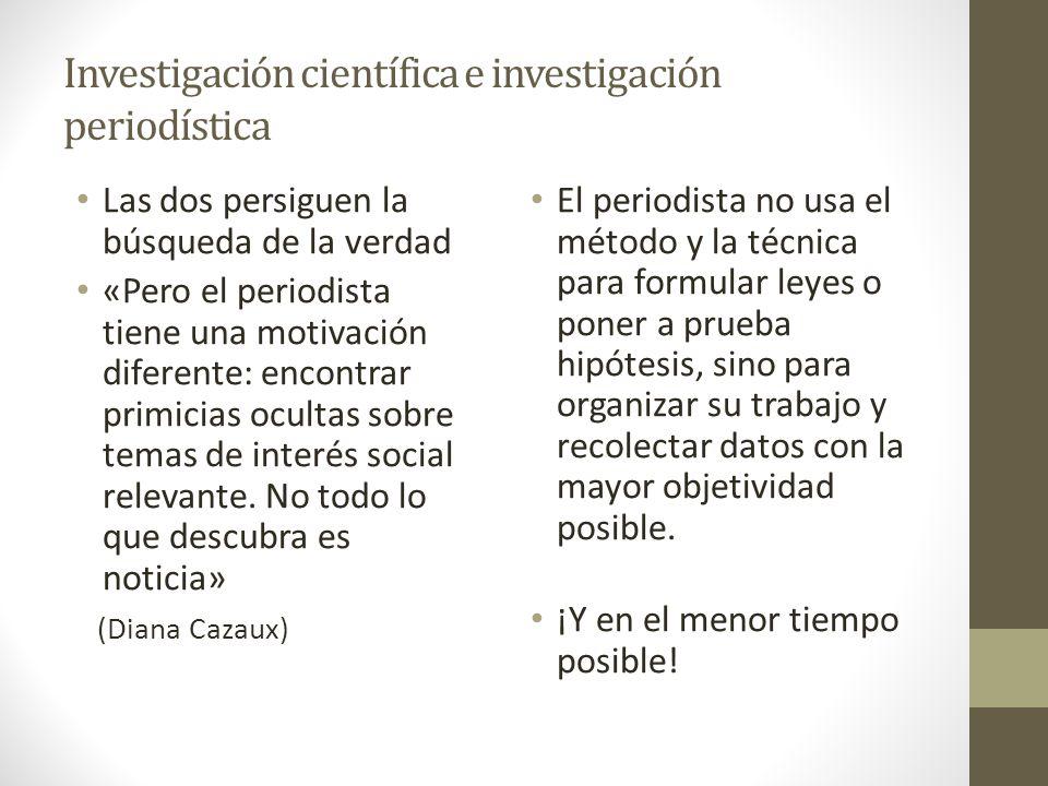 Investigación científica e investigación periodística