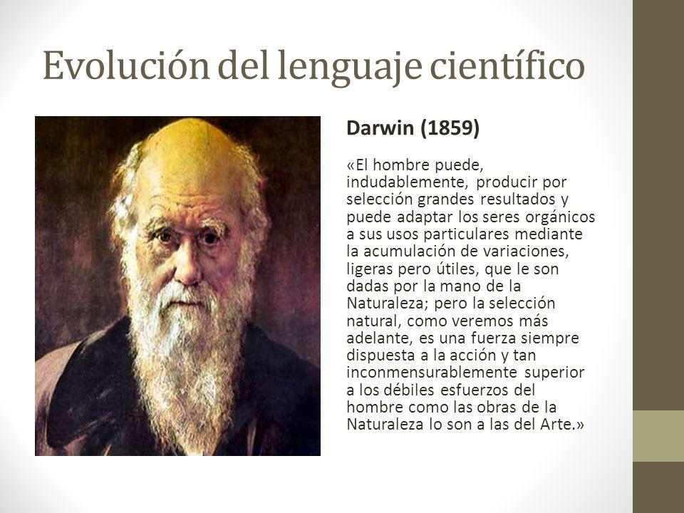 Evolución del lenguaje científico