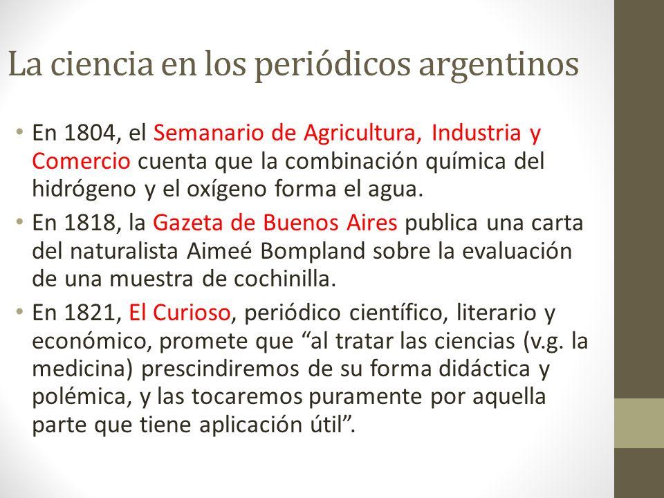 La ciencia en los periódicos argentinos