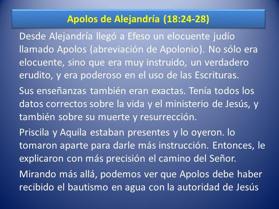 Apolos de Alejandría (18:24-28)