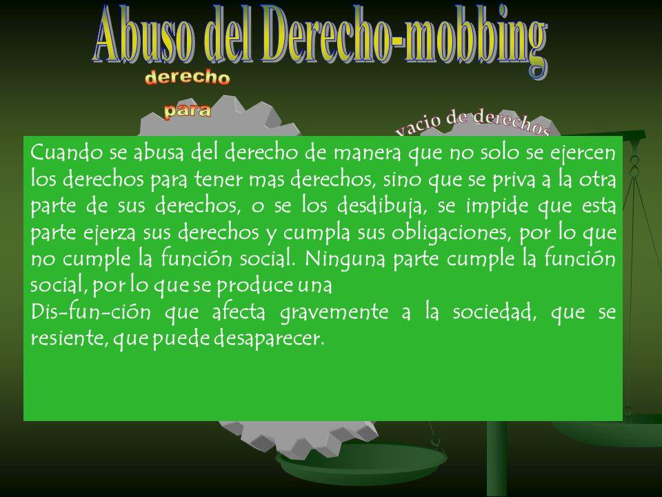 Abuso del Derecho-mobbing
