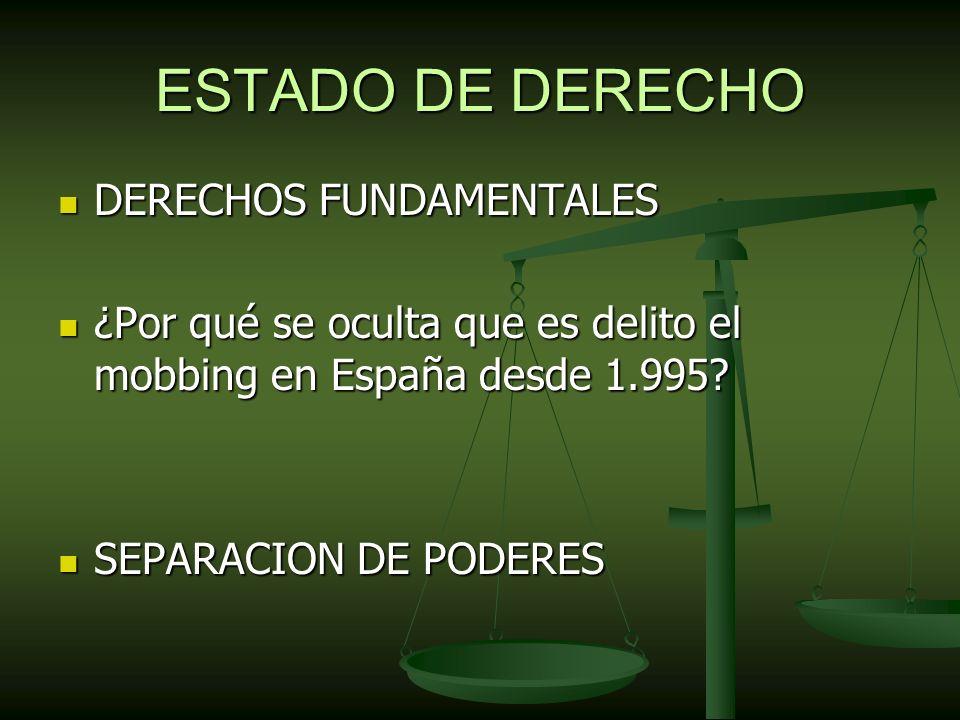 ESTADO DE DERECHO DERECHOS FUNDAMENTALES
