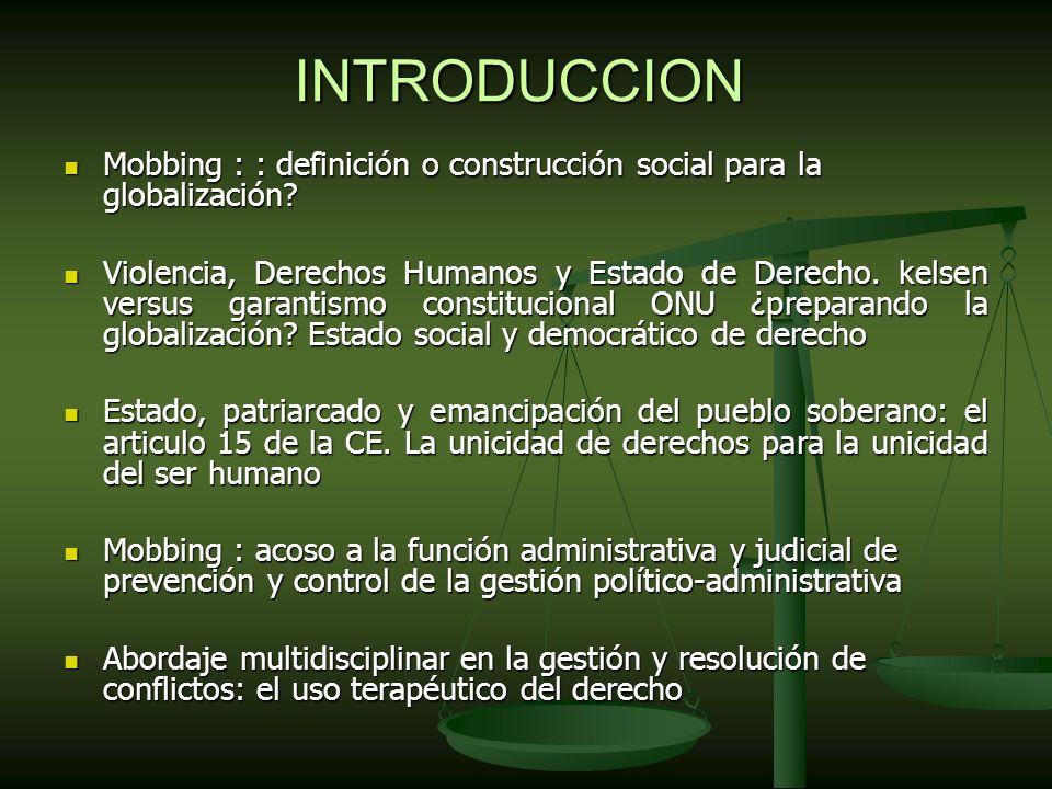 INTRODUCCION Mobbing : : definición o construcción social para la globalización