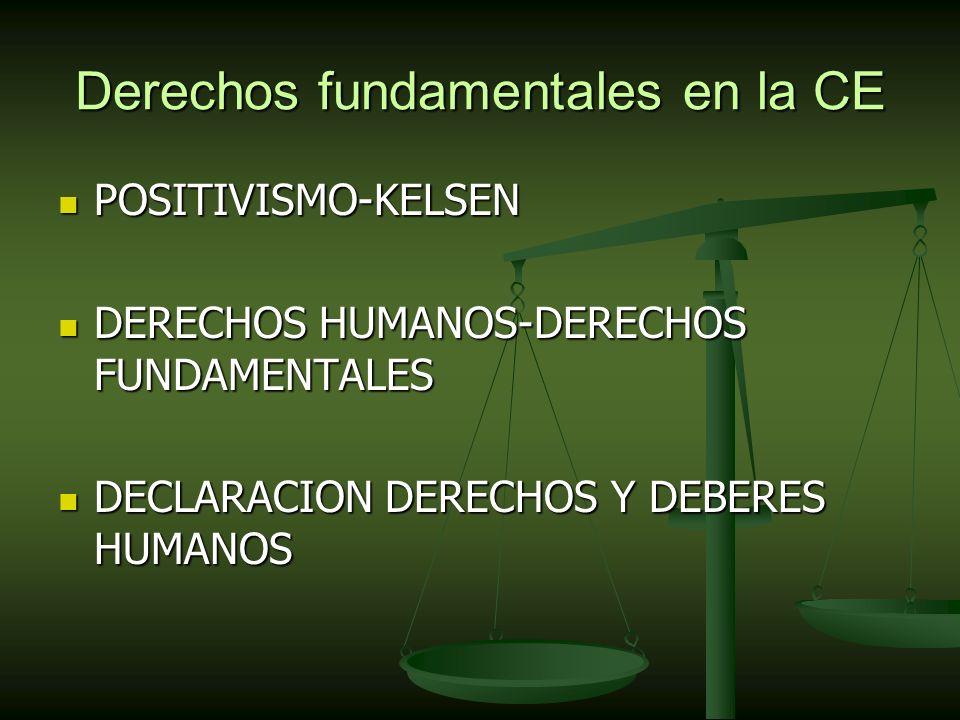 Derechos fundamentales en la CE