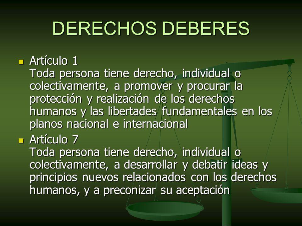 DERECHOS DEBERES
