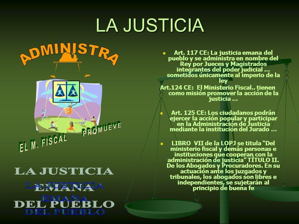 LA JUSTICIA ADMINISTRA LA JUSTICIA EMANA DEL PUEBLO