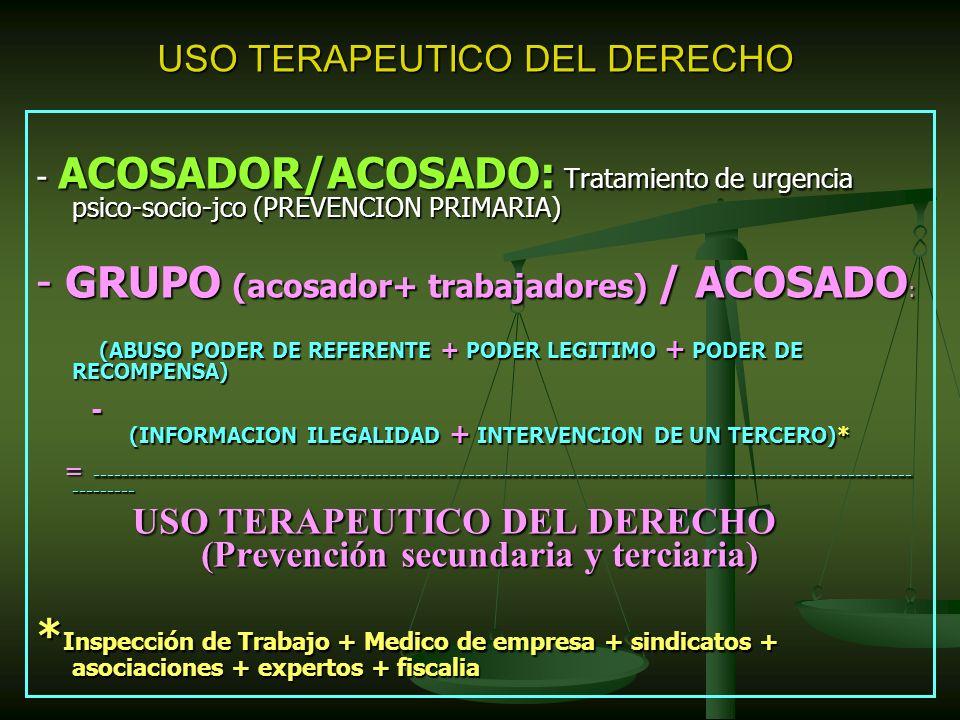 USO TERAPEUTICO DEL DERECHO