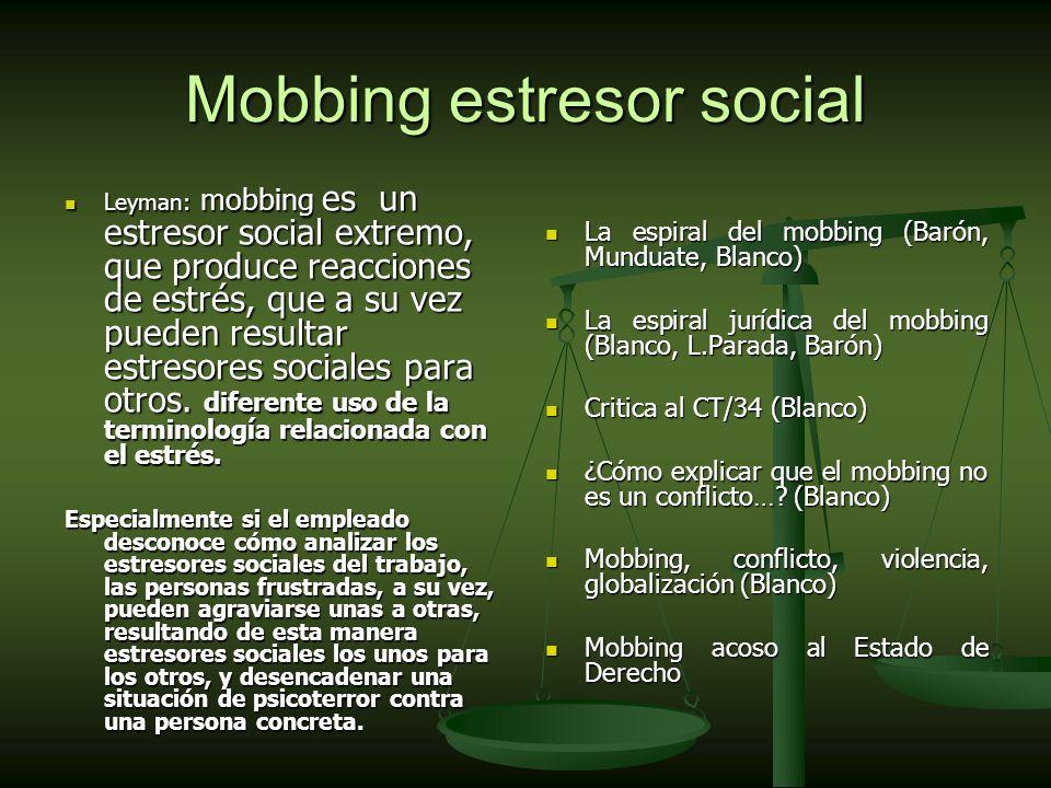 Mobbing estresor social