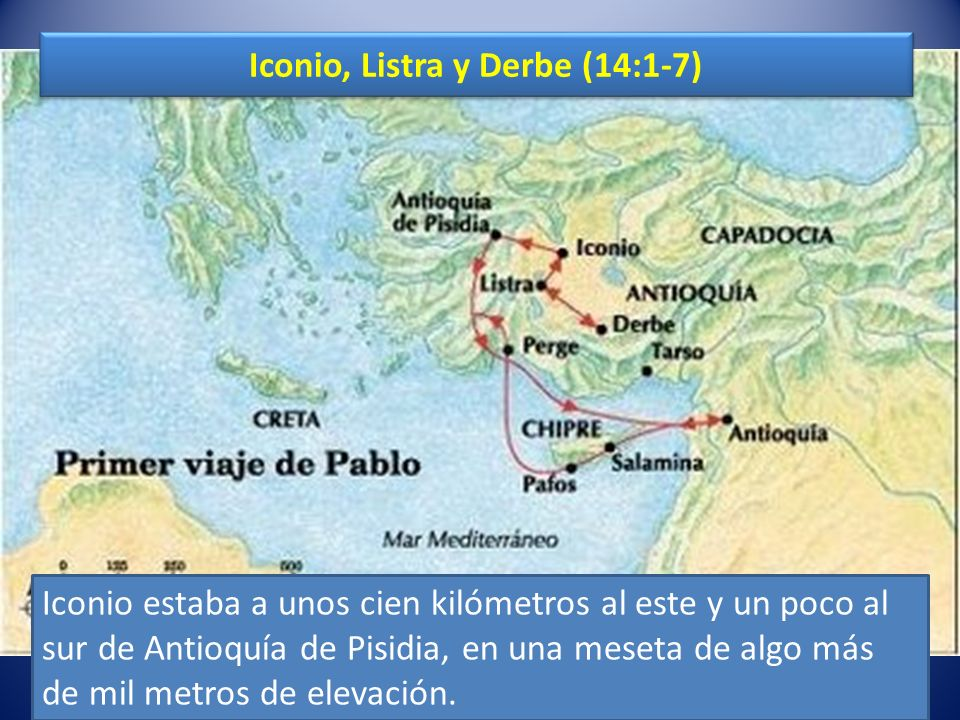 Iconio, Listra y Derbe (14:1-7)