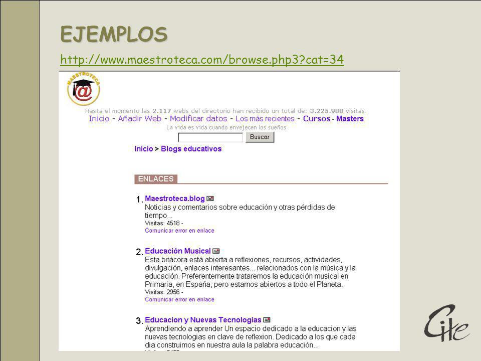 EJEMPLOS http://www.maestroteca.com/browse.php3 cat=34