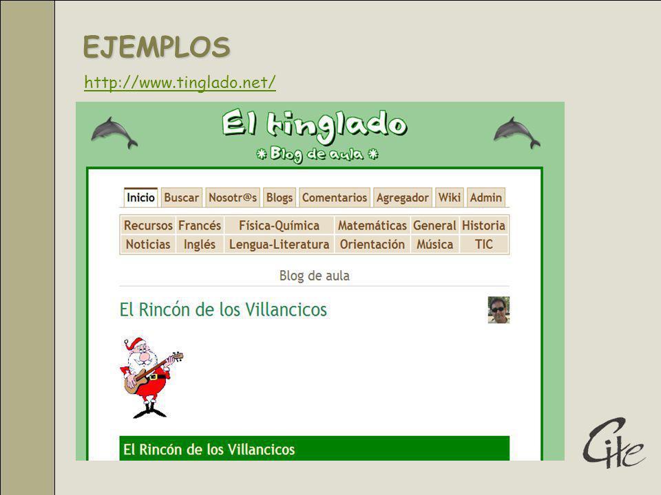 EJEMPLOS http://www.tinglado.net/