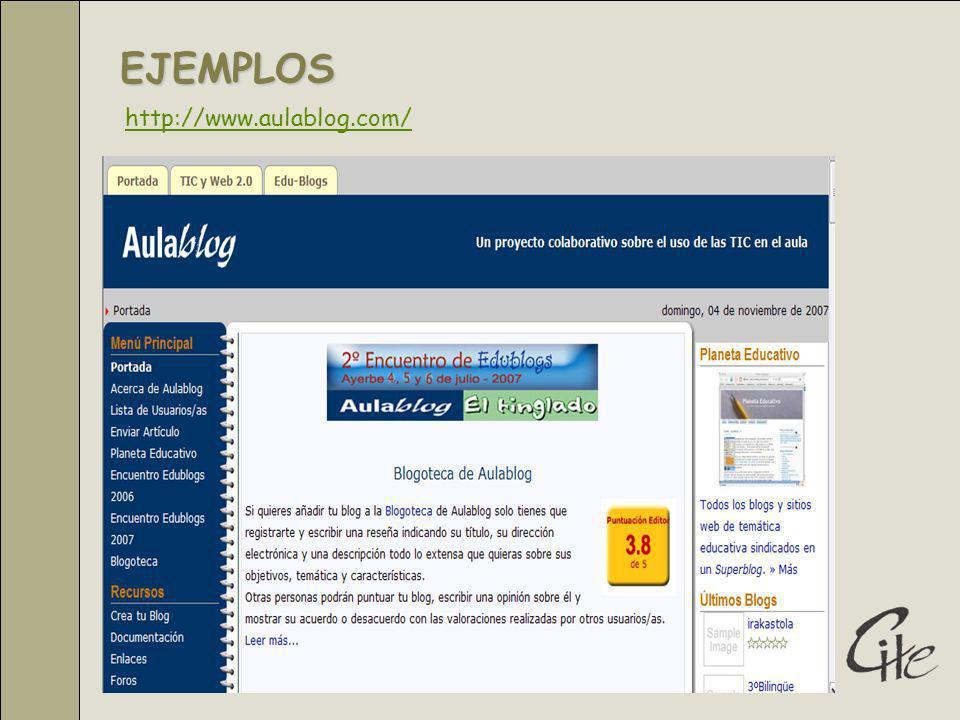 EJEMPLOS http://www.aulablog.com/