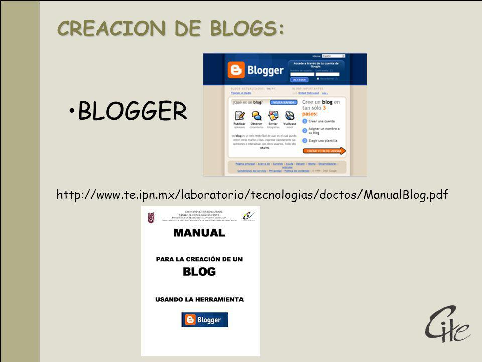 BLOGGER CREACION DE BLOGS: