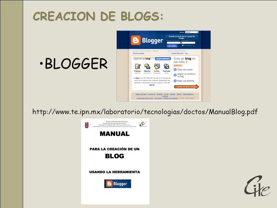BLOGGER CREACION DE BLOGS: