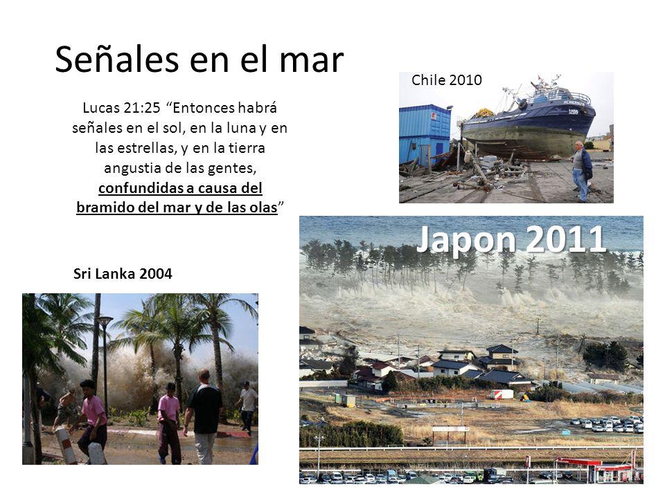 Señales en el mar Japon 2011 Chile 2010
