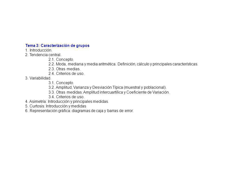Tema 3: Caracterización de grupos