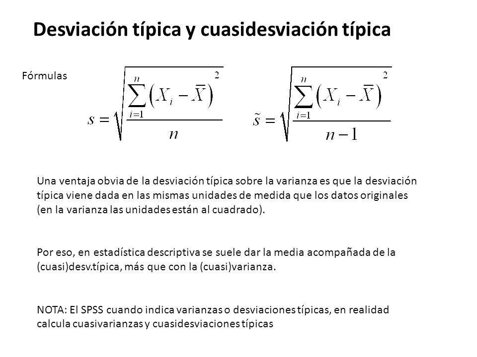 Desviación típica y cuasidesviación típica