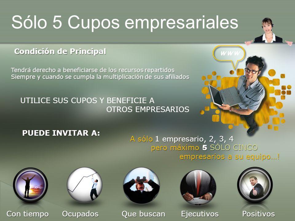 Sólo 5 Cupos empresariales