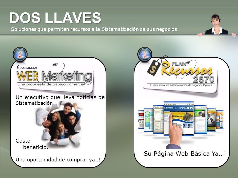 DOS LLAVES Su Página Web Básica Ya..!