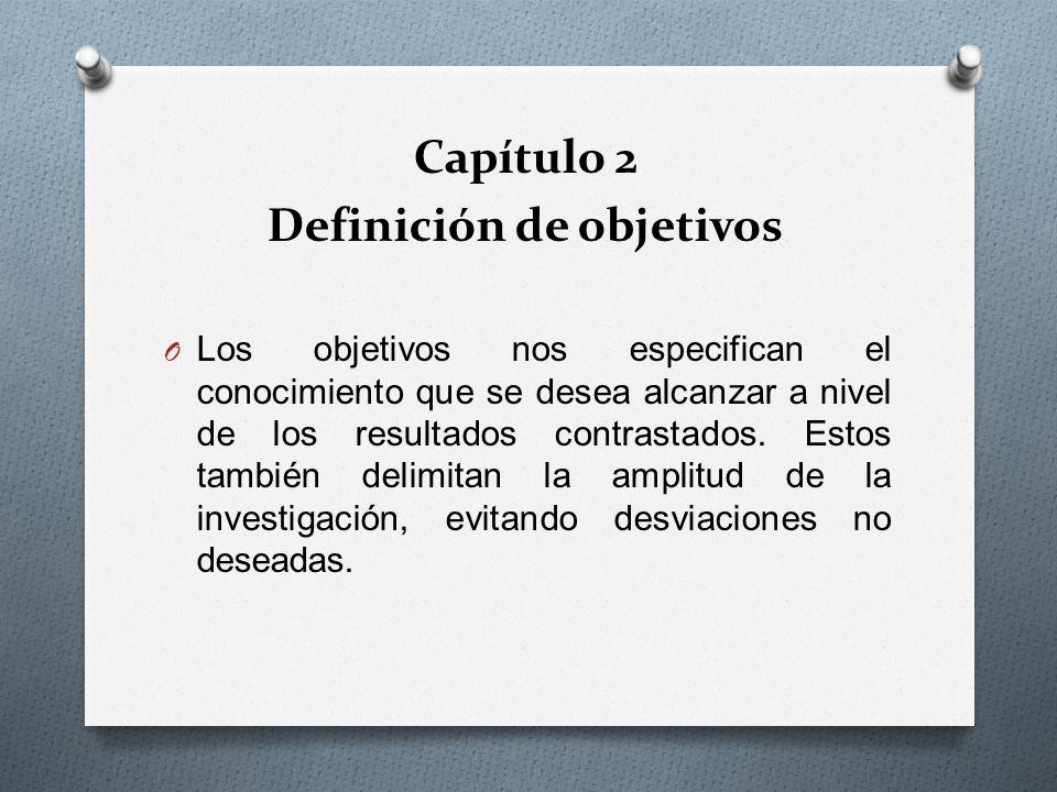 Definición de objetivos