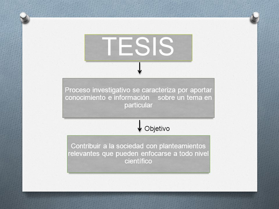 TESIS Proceso investigativo se caracteriza por aportar conocimiento e información sobre un tema en particular.