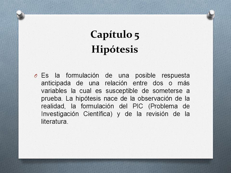 Capítulo 5 Hipótesis.