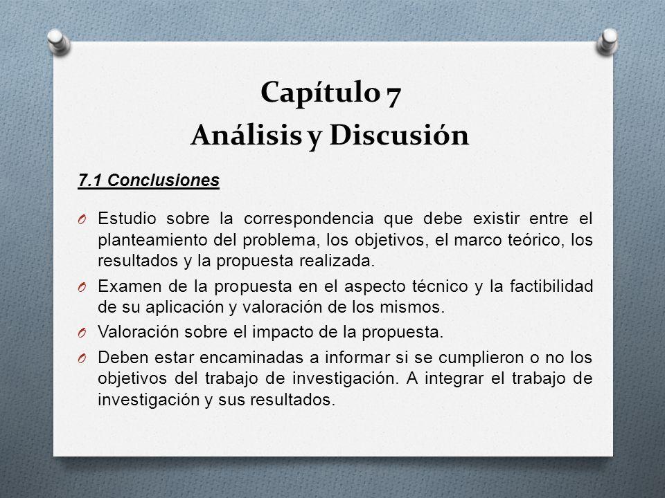 Capítulo 7 Análisis y Discusión