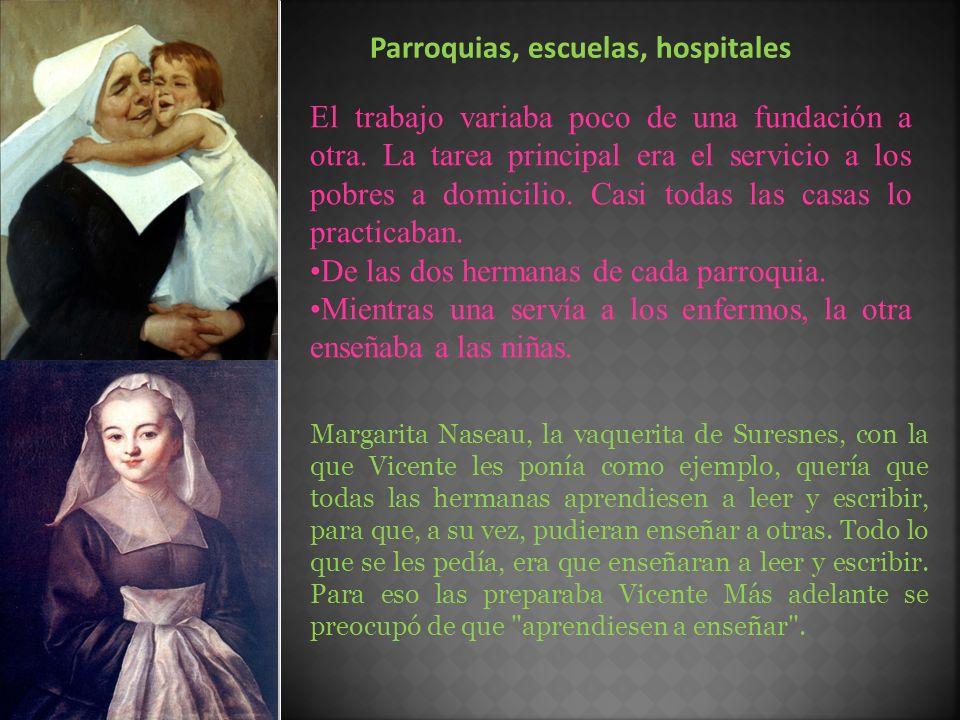 Parroquias, escuelas, hospitales