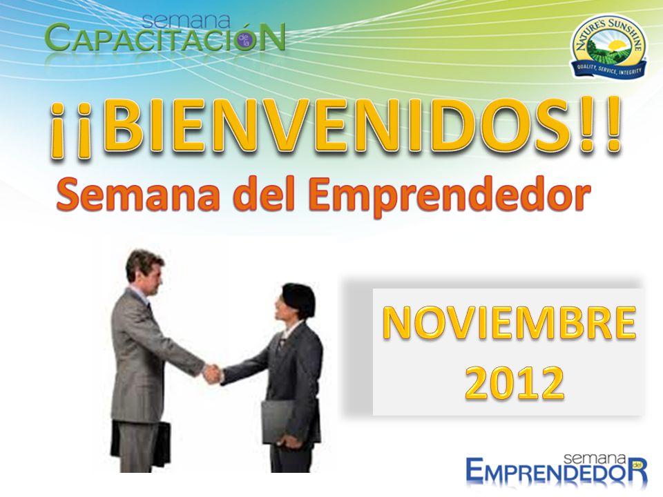 ¡¡BIENVENIDOS!! Semana del Emprendedor NOVIEMBRE 2012