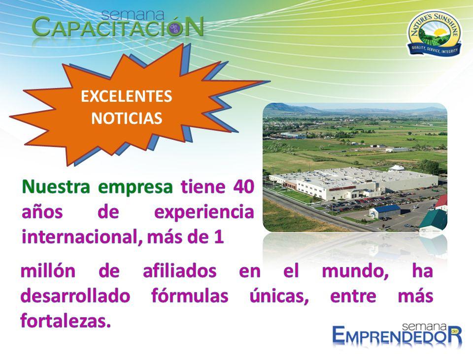 Nuestra empresa tiene 40 años de experiencia internacional, más de 1
