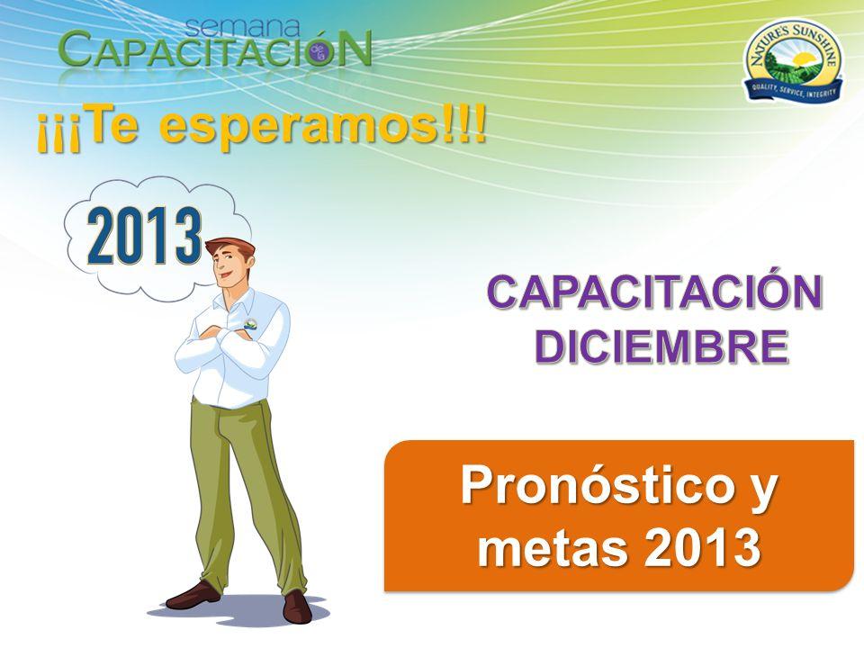 ¡¡¡Te esperamos!!! Pronóstico y metas 2013