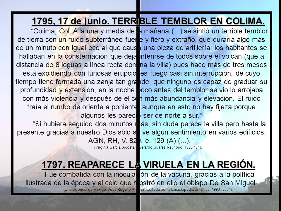 1795, 17 de junio. TERRIBLE TEMBLOR EN COLIMA.