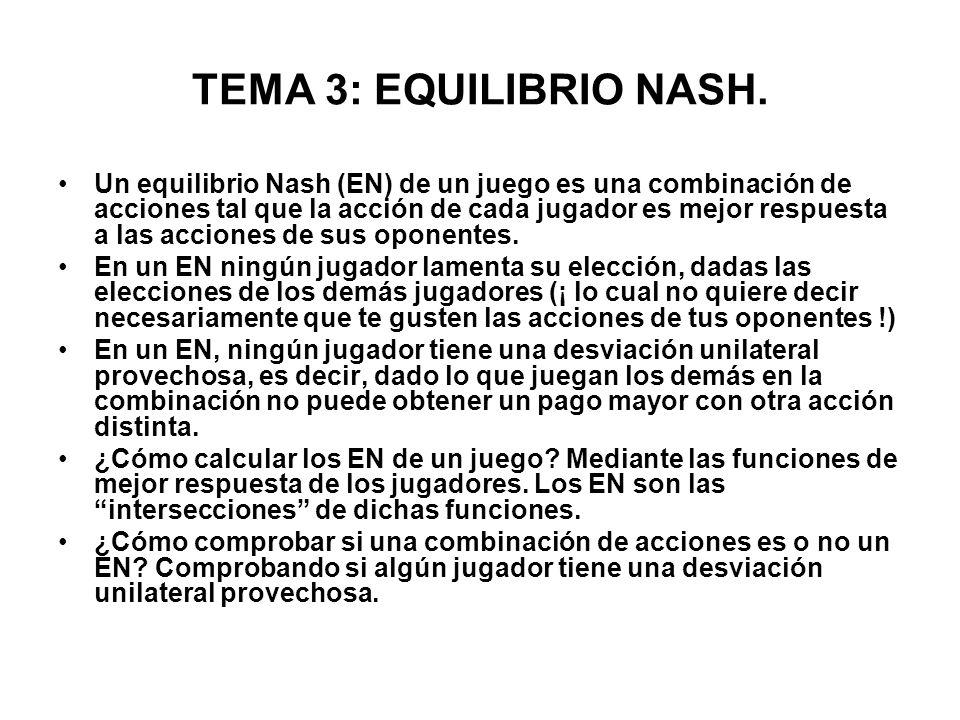 TEMA 3: EQUILIBRIO NASH.