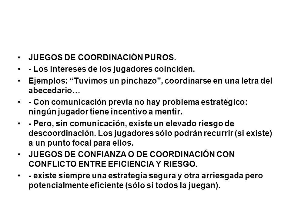 JUEGOS DE COORDINACIÓN PUROS.