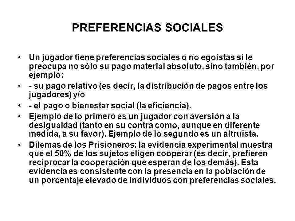 PREFERENCIAS SOCIALES