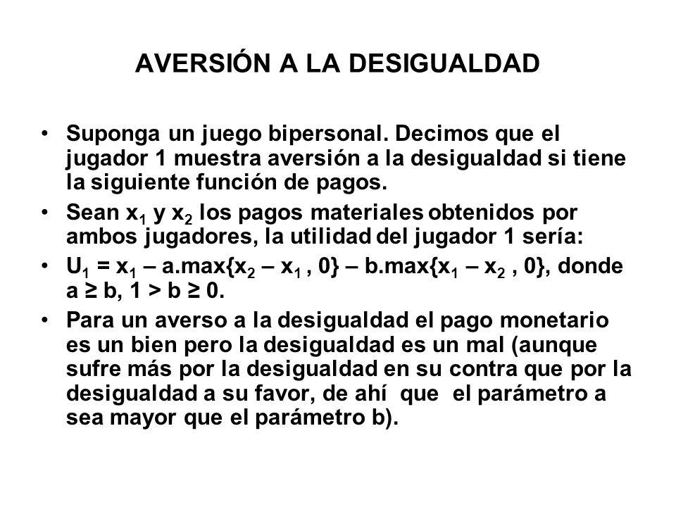 AVERSIÓN A LA DESIGUALDAD