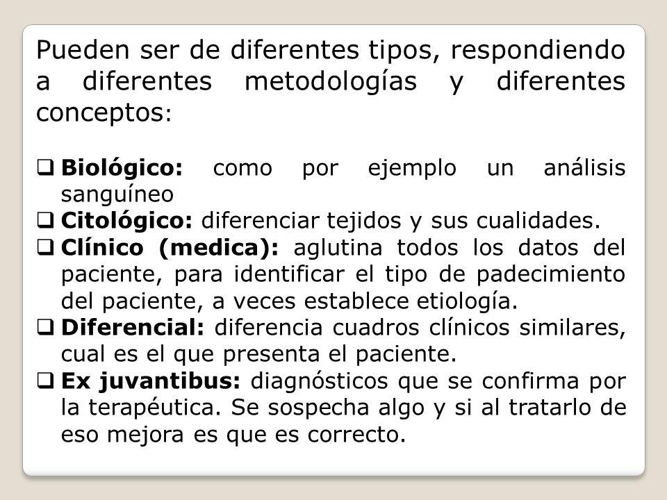 Pueden ser de diferentes tipos, respondiendo a diferentes metodologías y diferentes conceptos: