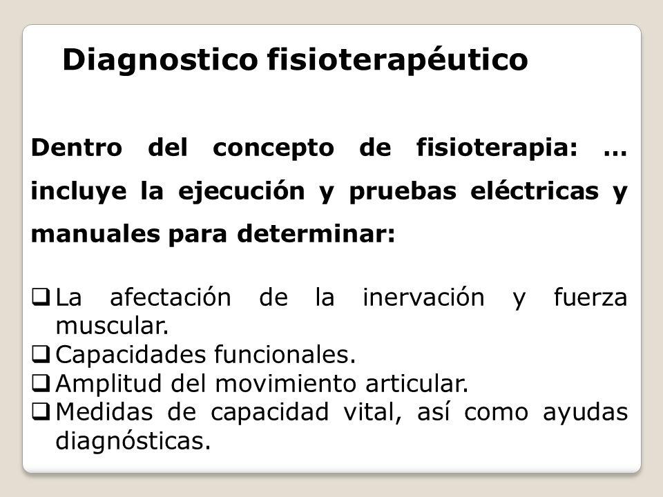 Diagnostico fisioterapéutico