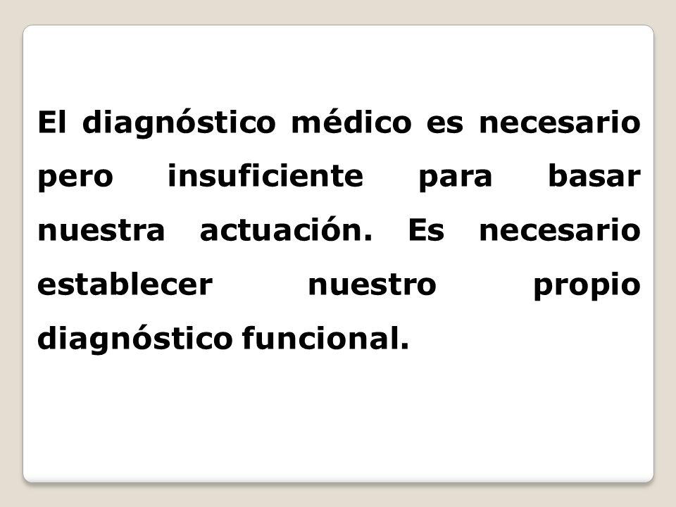 El diagnóstico médico es necesario pero insuficiente para basar nuestra actuación.