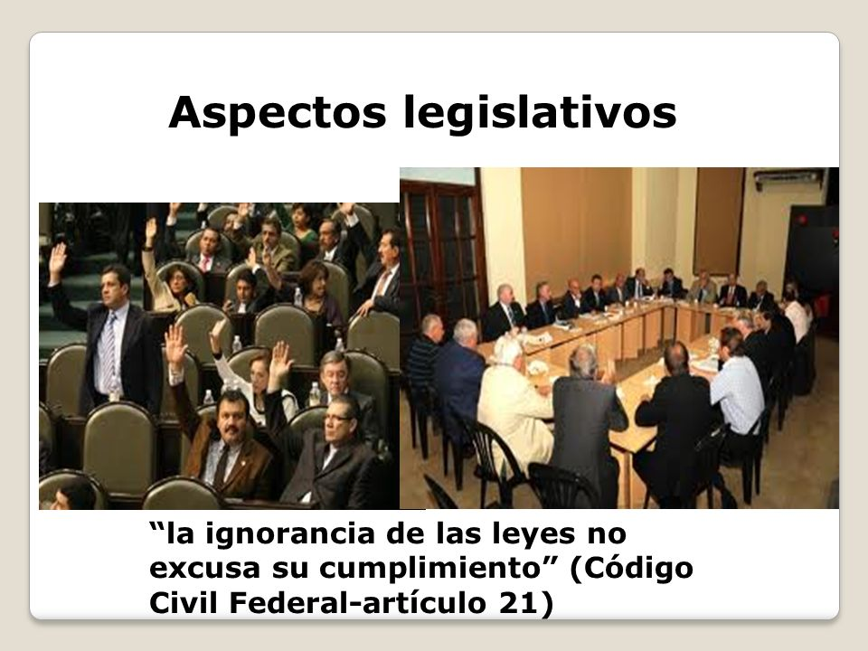 Aspectos legislativos