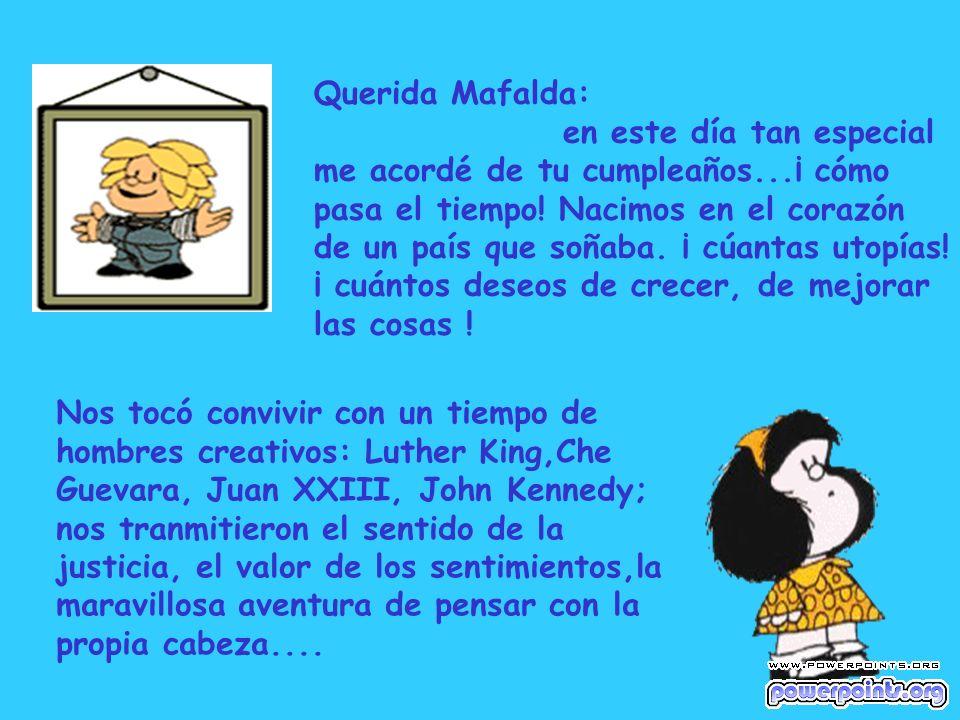 Querida Mafalda: