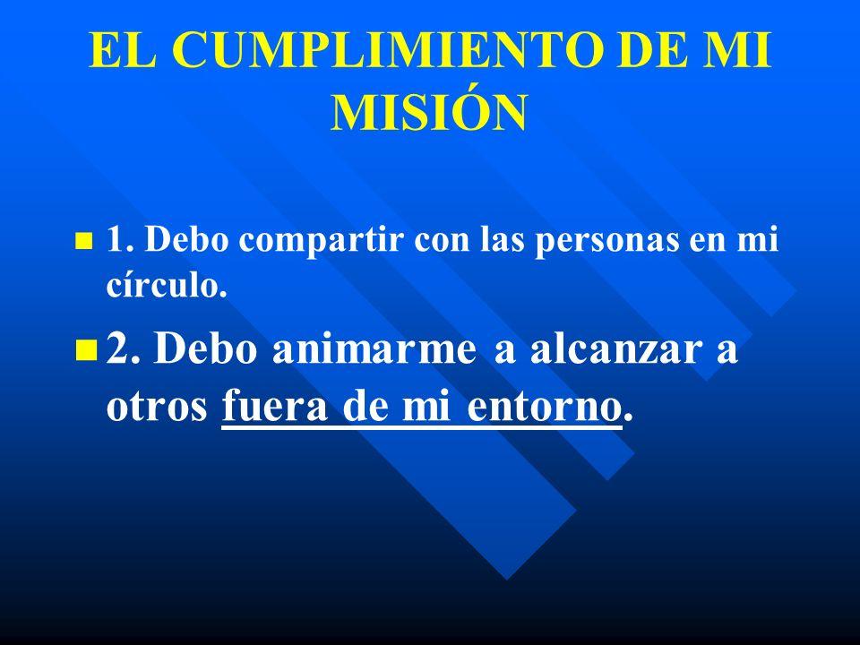 EL CUMPLIMIENTO DE MI MISIÓN