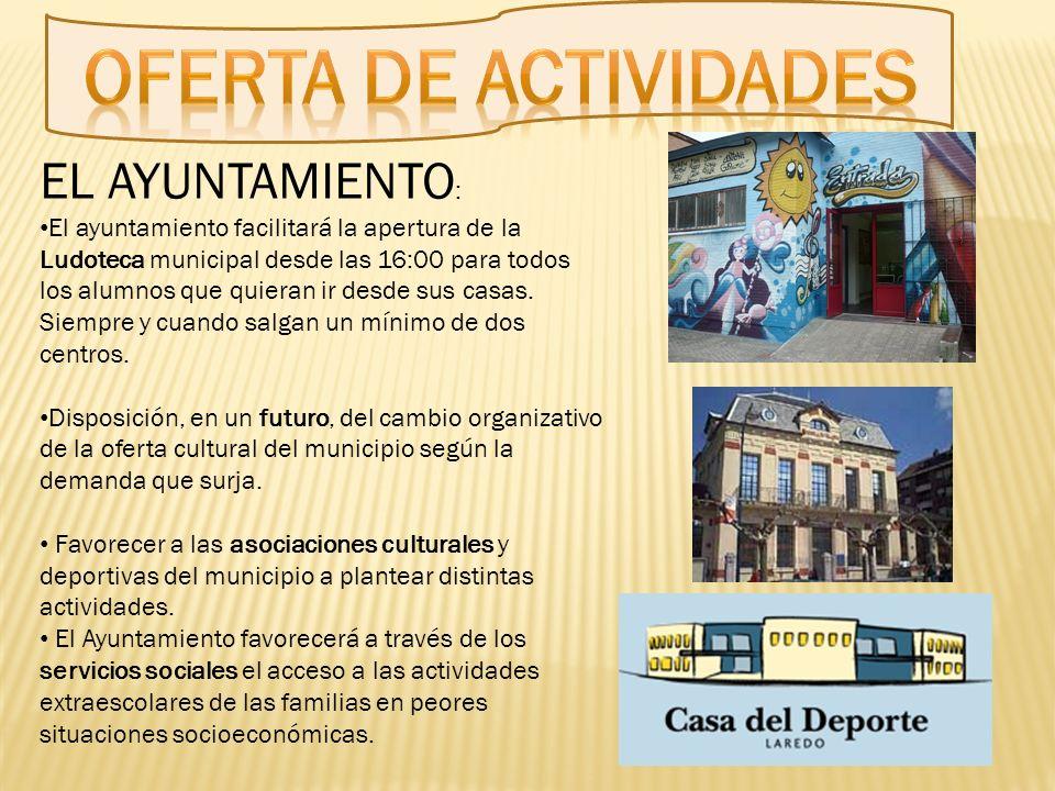 Oferta de actividades EL AYUNTAMIENTO: